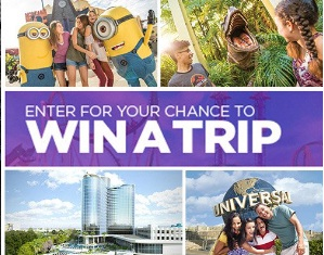 Access Universal Orlando Resort Vacation Sweepstakes - Win A Trip To Orlando, Florida