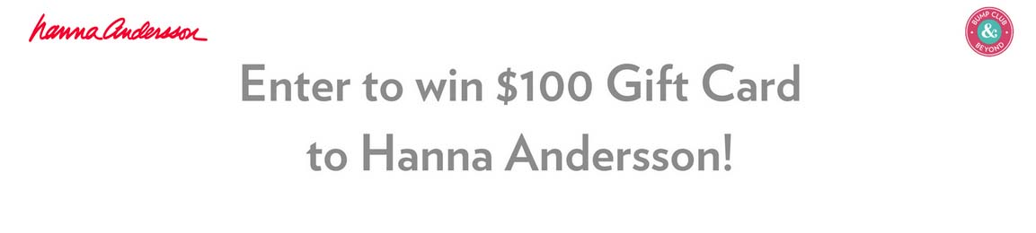 Bump Club & Beyond Hanna Andersson Sweepstakes