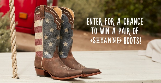 Country Outfitter Shyanne Sweepstakes - Win A Pair Of Shyanne Boots