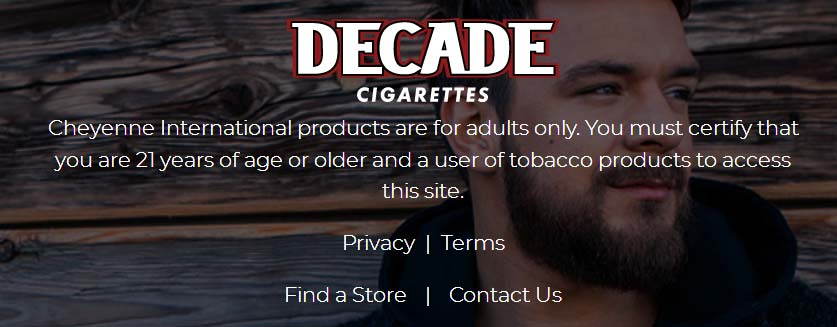 Decade Cigarettes Cool It Sweepstakes