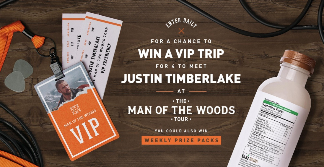 Justin Timberlake Concert Getaway Sweepstakes - Win A Trip To Memphis, Tennessee