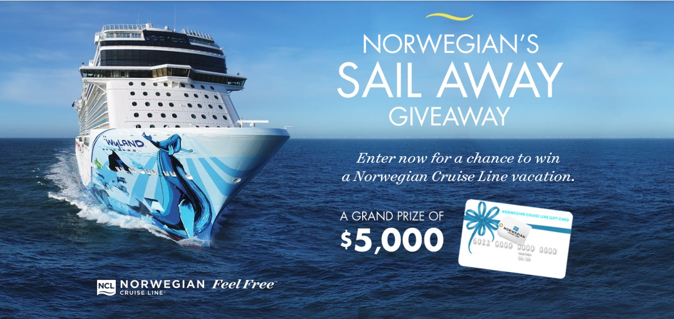 NGTV Norwegian Sail Away Giveaway - Enter For Chance To Win $5,000 Norwegian Cruise Line Gift Card