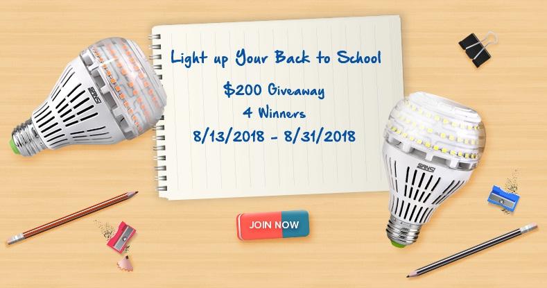 Sansi Light up Your Back to School Giveaway