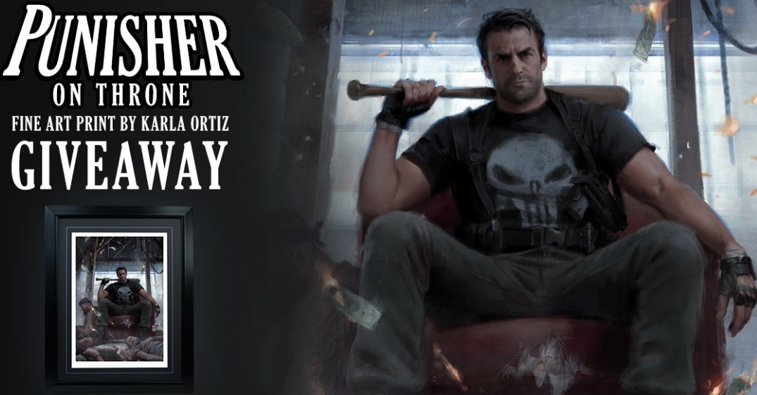 Sideshow Punisher on Throne Fine Art Print Giveaway
