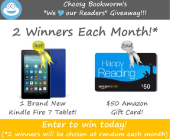 Choosy Bookworm Monthly Giveaway