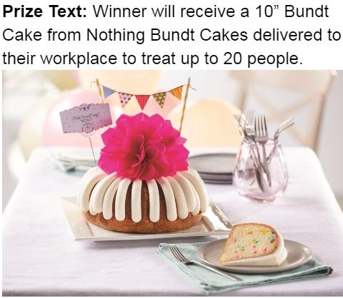 Wdef Nothing Bundt Cakes Contest