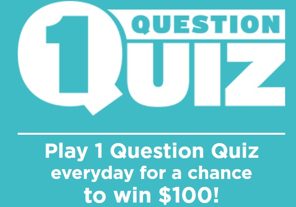 Game Show Network 1 Question Quiz Sweepstakes