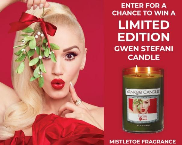 Yankee Candle Gwen Stefani Candle Sweepstakes