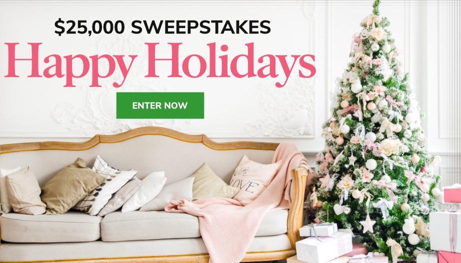 Martha Stewart Happy Holidays $25000 Sweepstakes