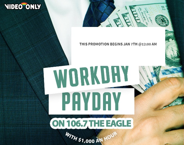 106.7 The Eagle 2019 Q1 Cash Sweepstakes