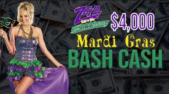 $4000 Mardi Gras Cash Bash Sweepstakes