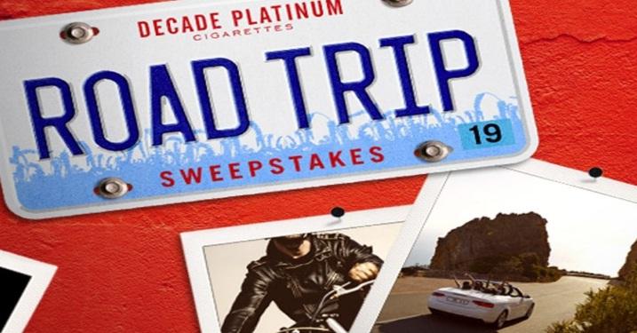 Decade Platinum Cigarettes Road Trip Sweepstakes