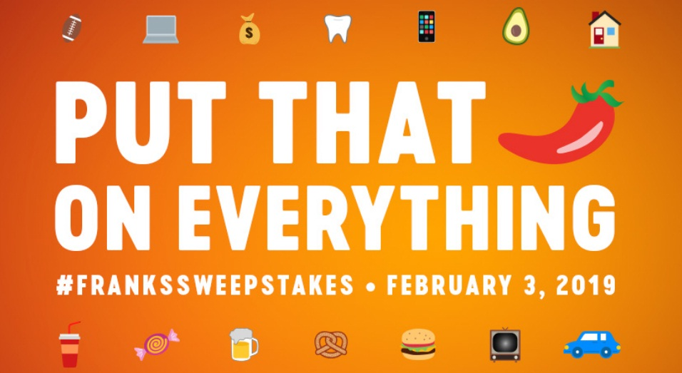 Franks RedHot Put That Emoji On Everything Sweepstakes