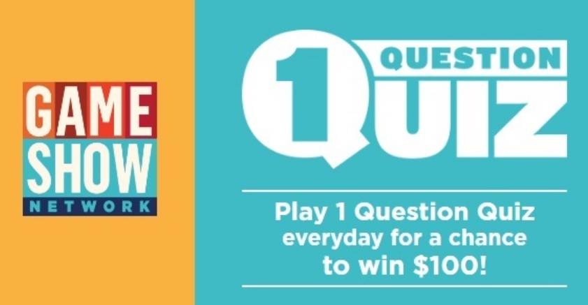 GSNTV 1 Question Quiz Sweepstakes