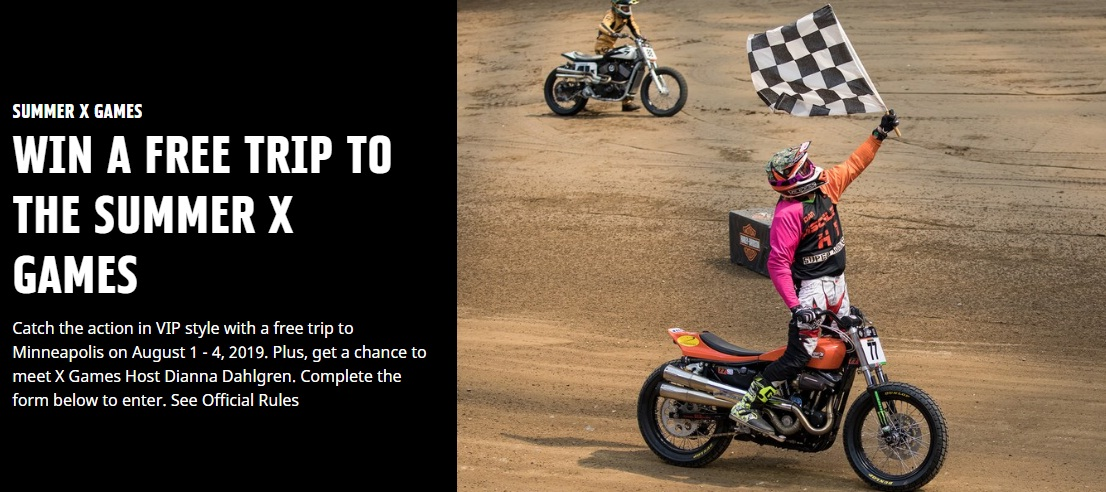 Harley Davidson Harley Hooligan X Games Sweepstakes