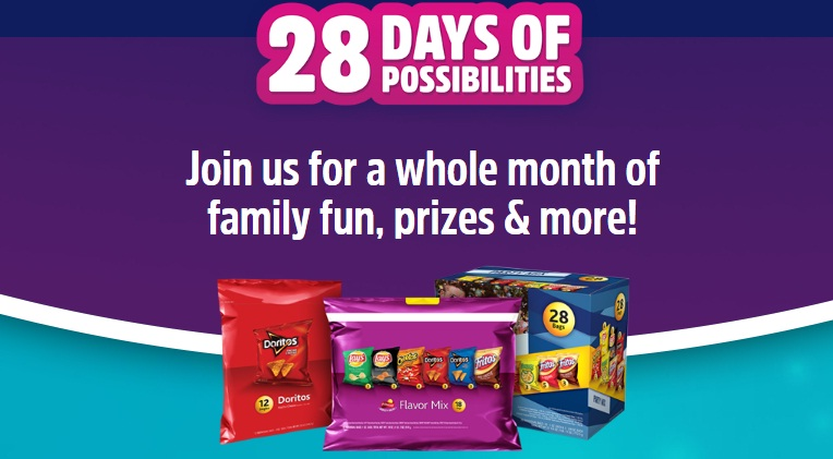 Frito-Lay Variety Packs 28 Days Of Possibilities Promotion