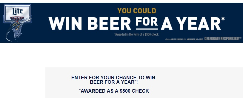 Miller Lite March Hoops Sweepstakes