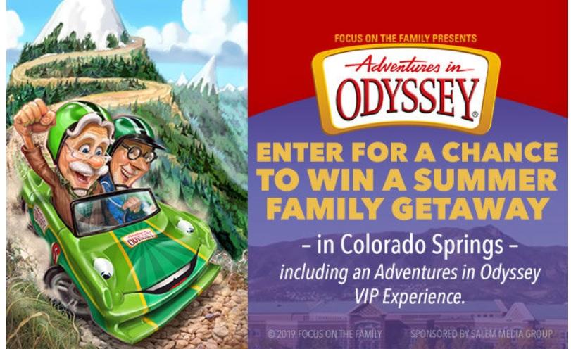 Adventures In Odyssey Summer Family Getaway Contest