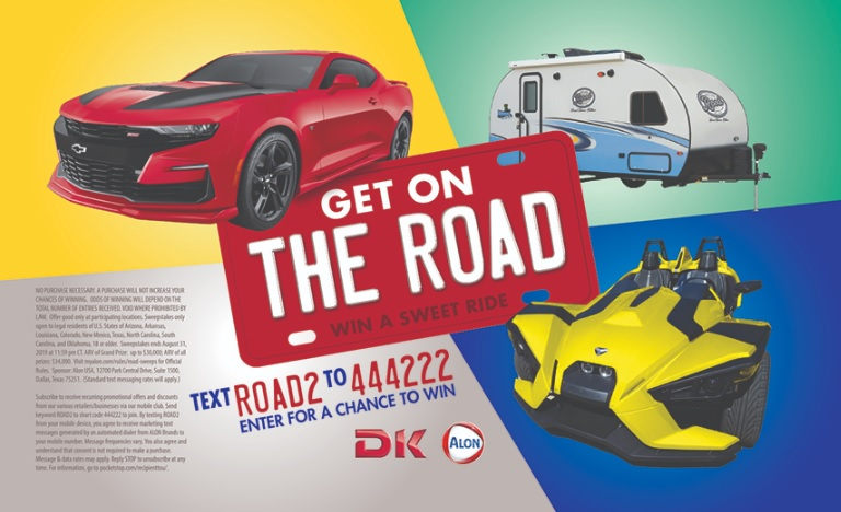 Alon Get On The Road Sweepstakes