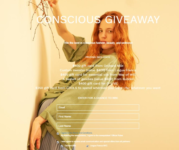 Cools The Ultimate Conscious Giveaway