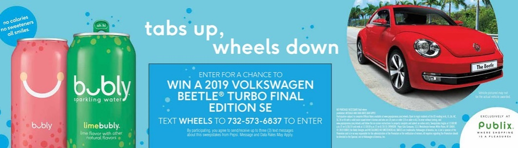 Bubly Sparkling Water Final Edition Beetle Sweepstakes