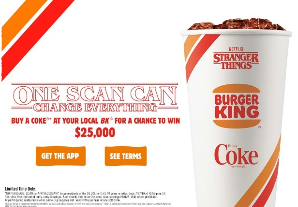 Burger King Stranger Things Sweepstakes