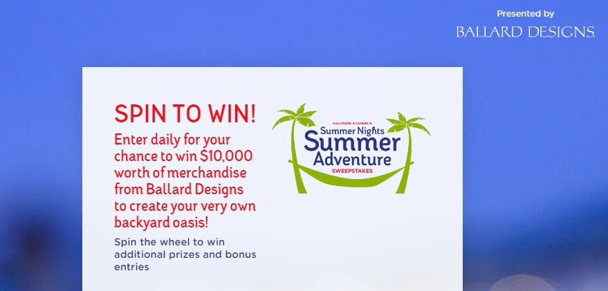 Hallmark Channel's Summer Nights Summer Adventure Sweepstakes