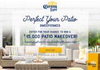 Corona Light Perfect Your Patio Sweepstakes