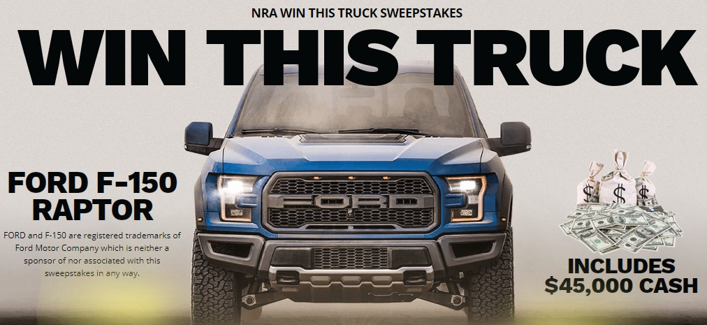 National Rifle Association Of America NRA Win This Truck Sweepstakes