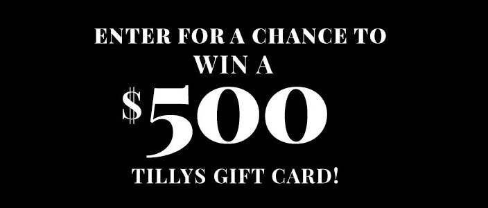 Tillys $500 Gift Card Giveaway
