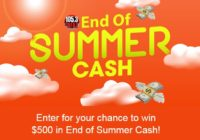 End Of Summer Cash Sweepstakes