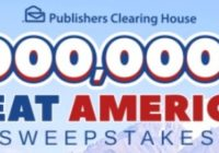 PCH.com $1,000,000 Great American Sweepstakes