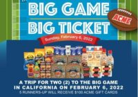 ACME Mid-Atlantic Division, ACME And Safeway Big Game Big Ticket Sweepstakes