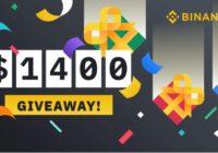 Binance Community $1,400 Giveaway