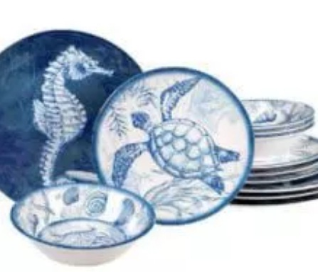 Riverbend Home Oceanic Twelve-Piece Melamine Dinnerware Set Giveaway