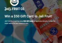 Jali Fruit $50 Gift Card Giveaway