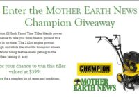OGDEN PUBLICATIONS Mother Earth News Champion Giveaway