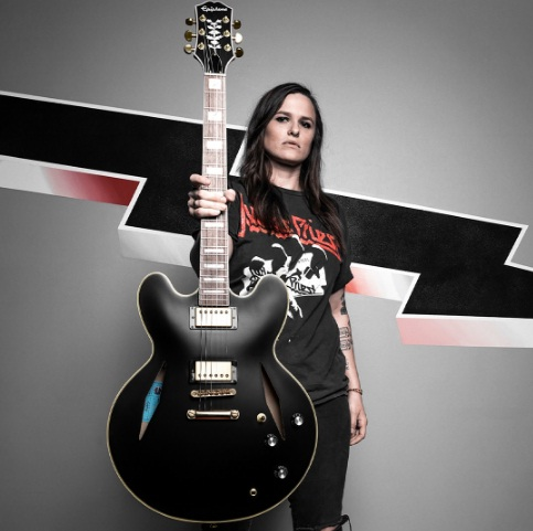Emily Wolfe Signature Epiphone Sheraton Stealth Guitar Giveaway