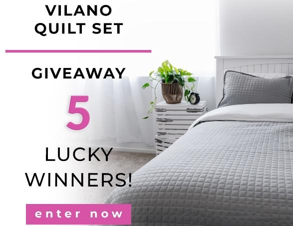 South Shore Fine Linens Vilano Quilt Giveaway