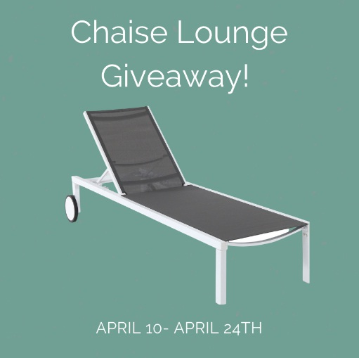 Four Seasons Merch Rebate Chaise Lounge Giveaway