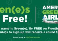 Frontier Airlines Green Fly Free Giveaway