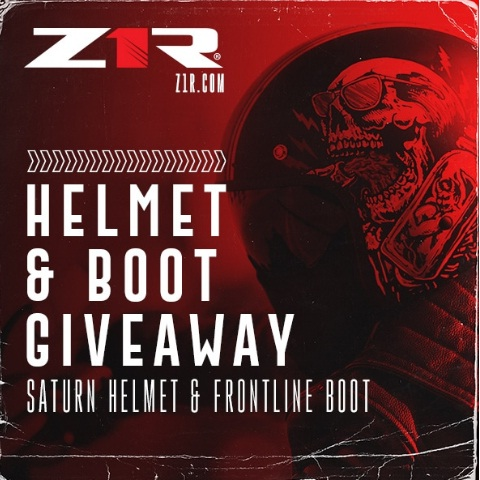 INKED Z1R Motorcycle Helmet And Boot Bundle Giveaway