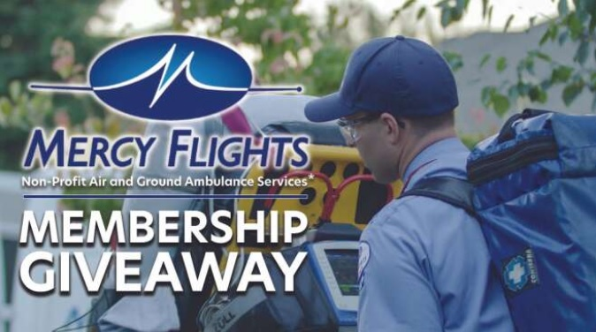 Mercy Flights Membership Giveaway