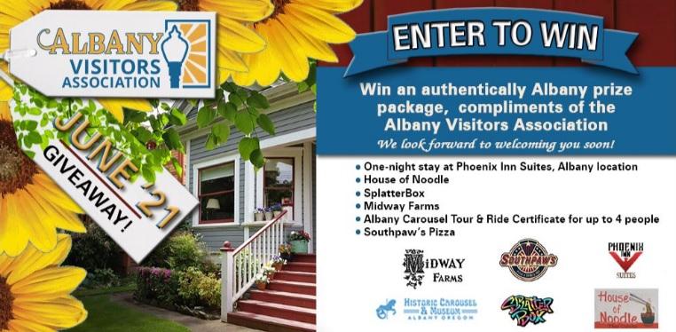 Albany Visitors Association June 2021 Giveaway