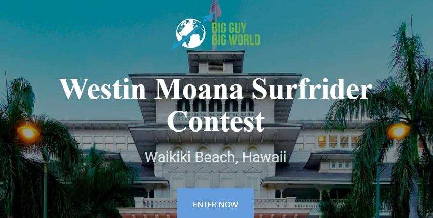 Big Guy Big World Westin Moana Surfrider Contest