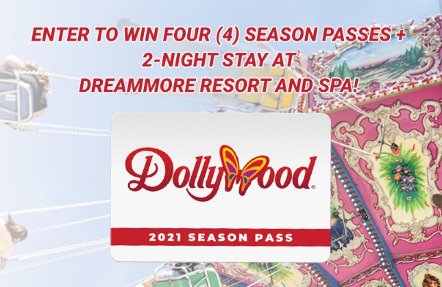Dollywood Season Passes And DreamMore Resort Stay Sweepstakes