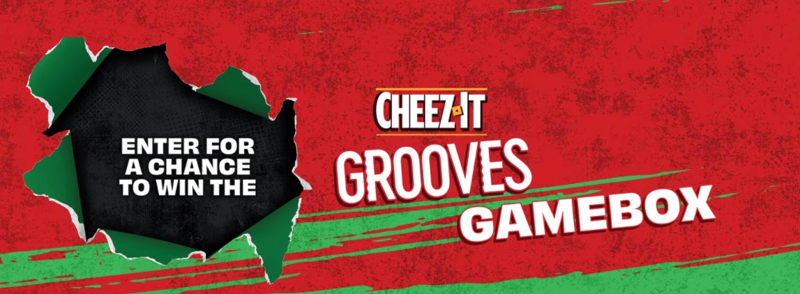Kellogg Company Cheez-It Grooves $1800 Gamebox Giveaway