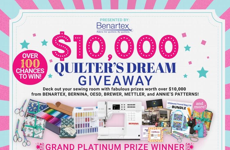 Benartex $10,000 Quilter Dream Giveaway