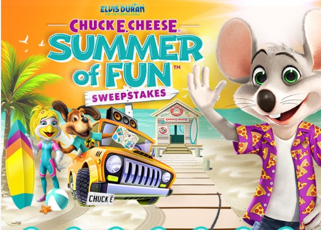 Elvis Duran And The Morning Show Chuck E. Cheese Summer Of Fun Sweepstakes