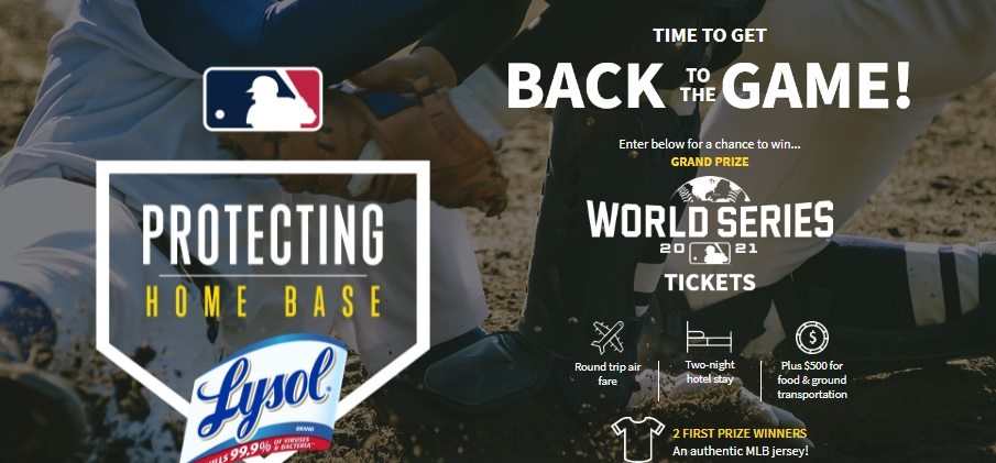 Lysol World Series Tickets Giveaway
